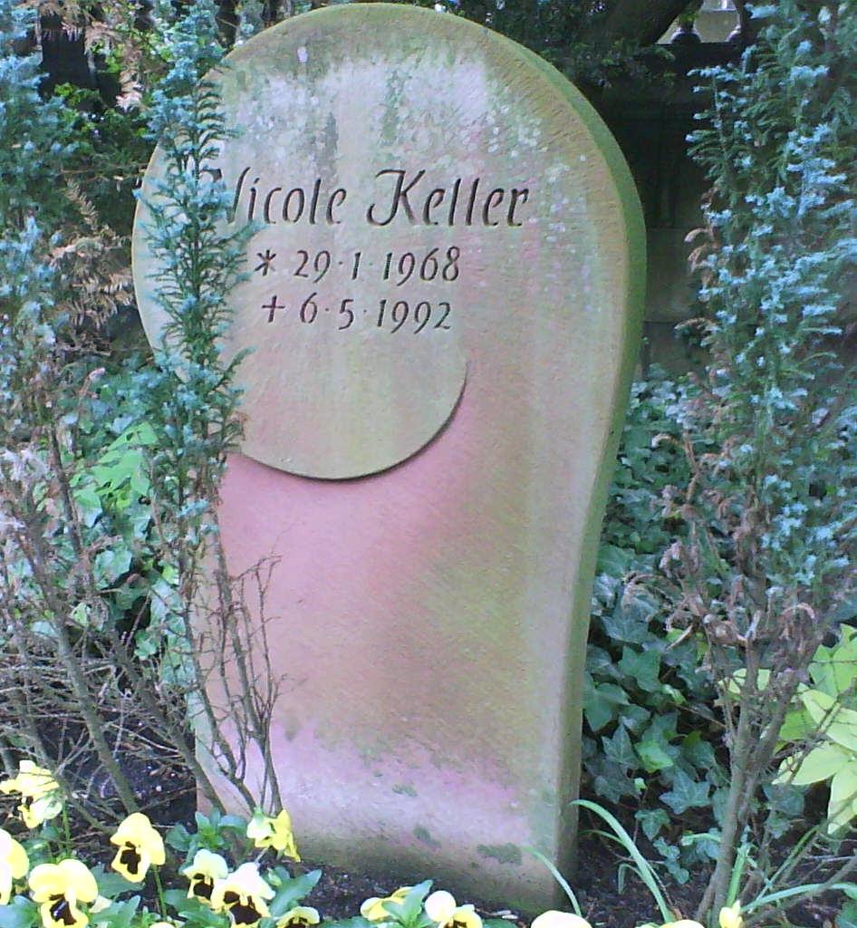 Grab von Nicole Keller auf dem Frankfurter Hauptfriedhof